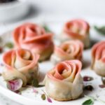 vegan rose dumplings