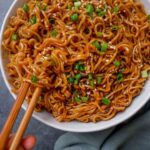 vegan saucy ramen noodles
