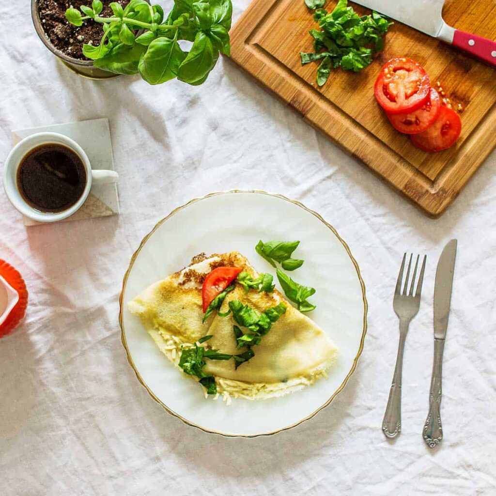 recipe for vegan Savory Crepes