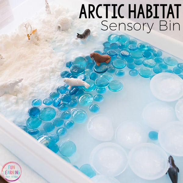 Making a sensory bin is one of the rainy day activities for kids in this post.