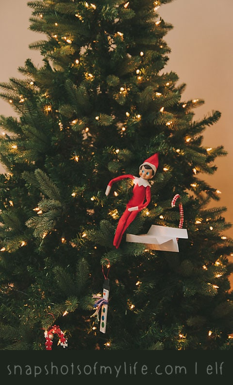 Elf in the Christmas tree