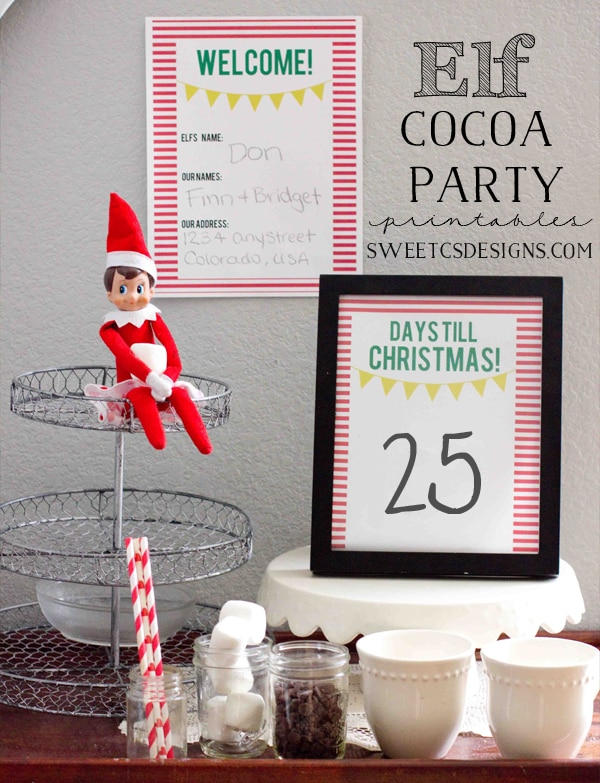 Hot Cocoa Party for elf on the shelf
