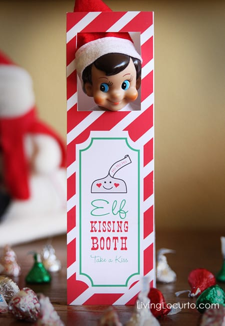 Kissing booth for elf on the shelf