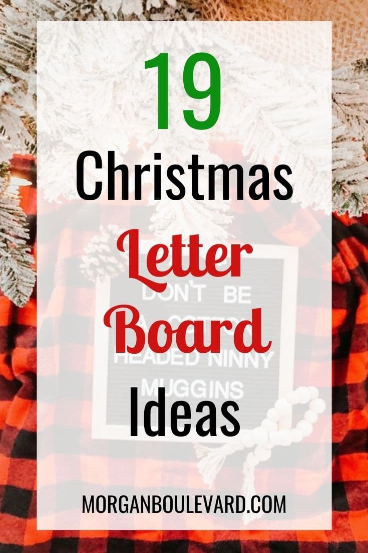 19 Christmas Letter Board Ideas Perfect For The Holidays