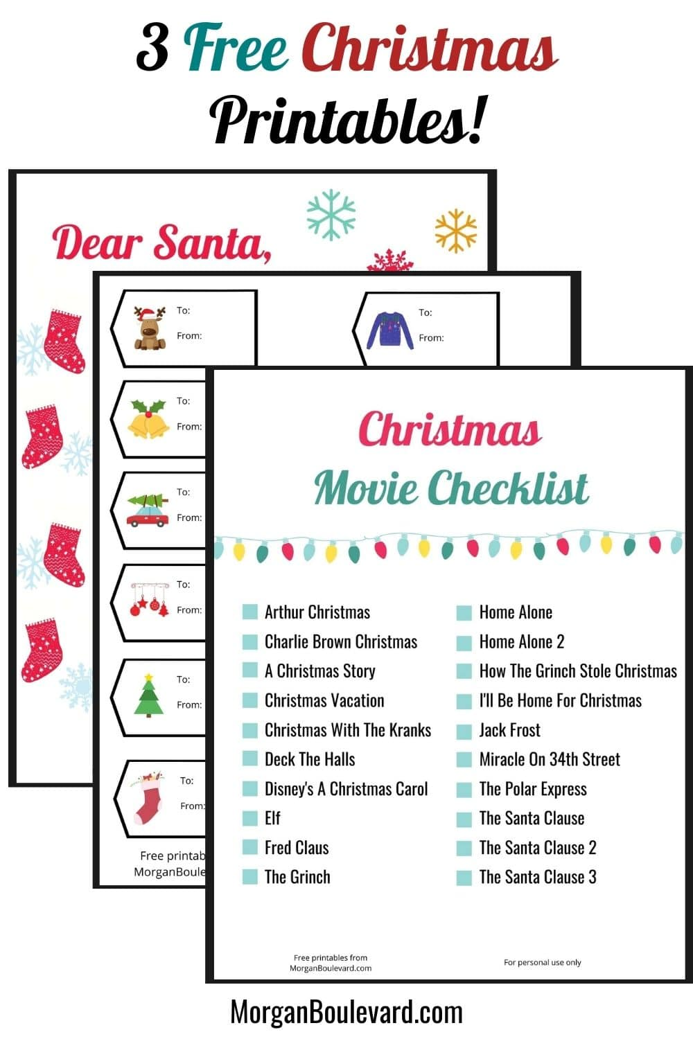 3 Free Christmas Printables Every Mom Should Have