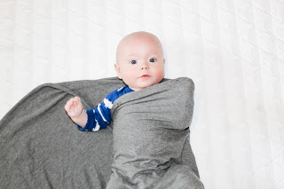 step 3 of classic swaddle