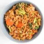 vegan fried rice from above